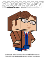 Cubeecraft - 10th Doctor 'Ver3' by CyberDrone