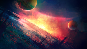 Spacescape - speedpainting by BaukjeSpirit
