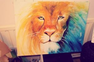 Lion painting by ahsr