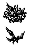 Crow Tattoo Design by ash-night-k