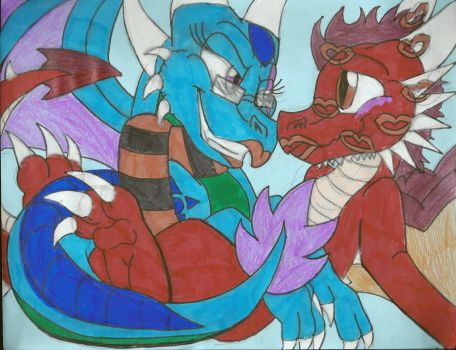 PC: Kisses from a Water Dragon -BX- by KaijuDragon