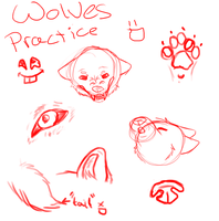 wolves practice/doodlez by galexy-candy