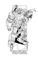 Soundwave commission lineart by markerguru