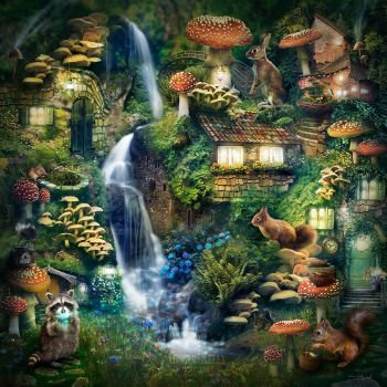 Mushroom Village by GingerKellyStudio