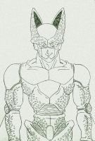 Perfect Cell Lineart by gokujr96