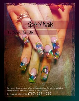 Flyer: Aztrid Nails by IngritaG