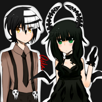 Death the Kid and Dead Master [colored] by Aiiika