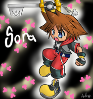 Chibi Hero Sora by Pon3Splash
