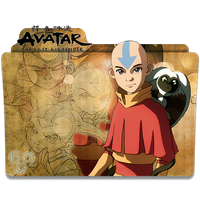 Avatar The Last Airbender V5 (Aang) - Icon Folder by ubagutobr