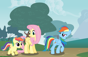 Fluttershy, Rainbow Dash and Scootaloo :D by nejcrozi