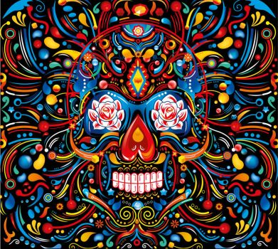 Mexican Skull by FlyDesignStudio