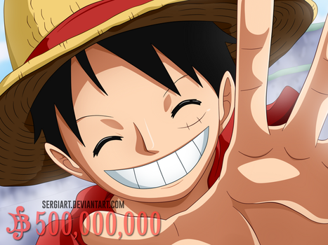 Wanted #1 - Monkey D. Luffy by SergiART