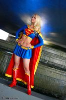 Supergirl by the fountain by AlisaKiss