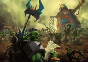 Wh40K: Orks and Their Animosity by StugMeister