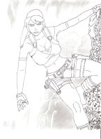 tomb raider drawing by jon-55