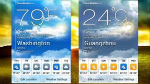 ASUS Padfone 2 Weather Screen Widget for xwidget by jimking