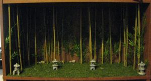 Bamboo shelf background by A-J-M-74