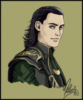 Loki Portrait by MellorianJ