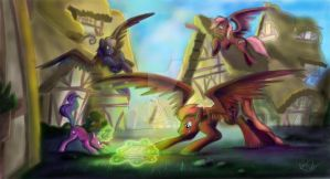 (Commission) Play time with Dad. by Mad--Munchkin