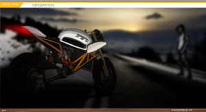 Electric Naked Sportsbike by Mixzpalette
