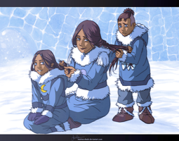 Daughter and Mother by Marina-Shads