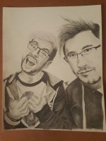 markiplier and jacksepticeye  by brooketrout1