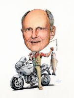 Caricature: Bruce by RobHough