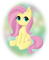 Fluttershy Sitting by PeachyKat
