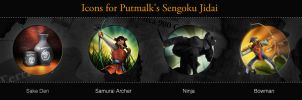 Icons for Putmalk's Senguko Jidai by sukritact
