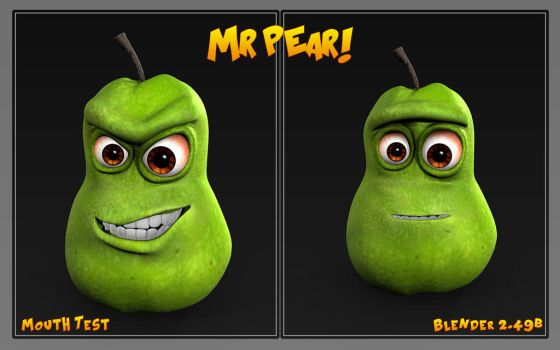 Mr Pear winth Mouth by bryansvt92