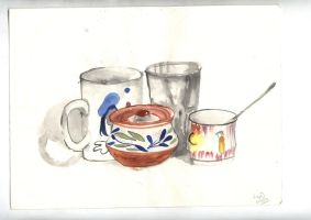 still life +water color by pnna