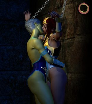 Teela vs. Evil-Lyn 23 by Uroboros-Art