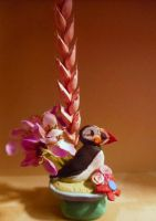 The Puffin Vase by Artzy-chick