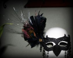 Black Raven Mask with fiber optic lighting. by ReneeRutherford