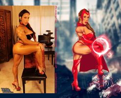 Denise Masino Is AVENGERS Scarlet Witch By Ulics by zenx007