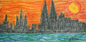 Cologne Dom Painting With Chalk by ingeline-art