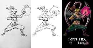Lady Iron Fist-triptic by LucGrigg