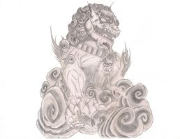 Foo Dog Tattoo by shadownexu5