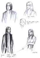 Snape and Sinistra doodles by The-Black-Panther