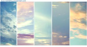 segments of the sky by LeksaArt