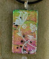 Butterfly Perch Fused Glass by FusedElegance