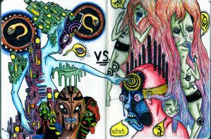 Hollowhead VS Cathedron by lopside