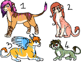 + Feline Adoptables 1 - OPEN - Lowered Prices! + by Aisuruu-Adopts
