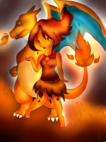 Flame Princess and Charizard by OriChes