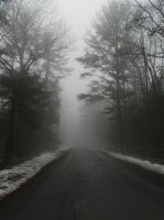 foggy road stock1 by wroquephotography