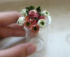 tiny bouquet by JSjewelry