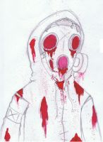 Bloody Gas Mask by trigs94