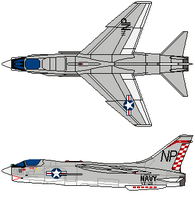 F-8C Crusaider VF-211 by gryphonarts