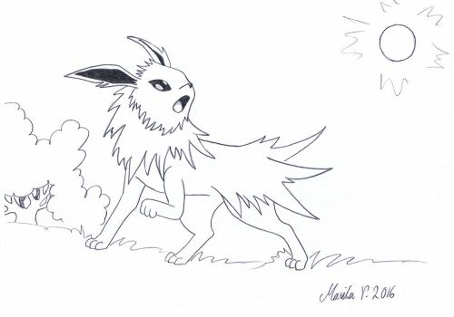 Colouring Jolteon by YikYik