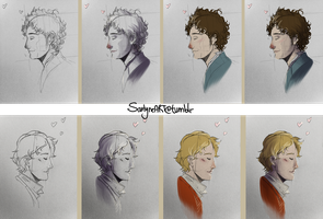 WIP - Les Mis portraits by SarlyneART